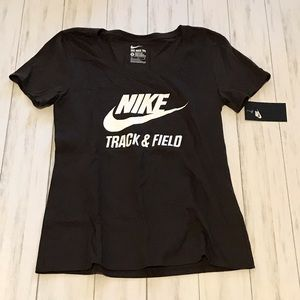 Brown Nike Track and Field Women's T-Shirt